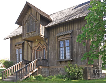 In This Country Gothic Revival Buildings Especially Houses Were Executed A Much Lighter Mood Than Their British Counterparts
