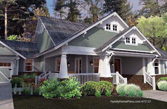 Craftsman style house porch
