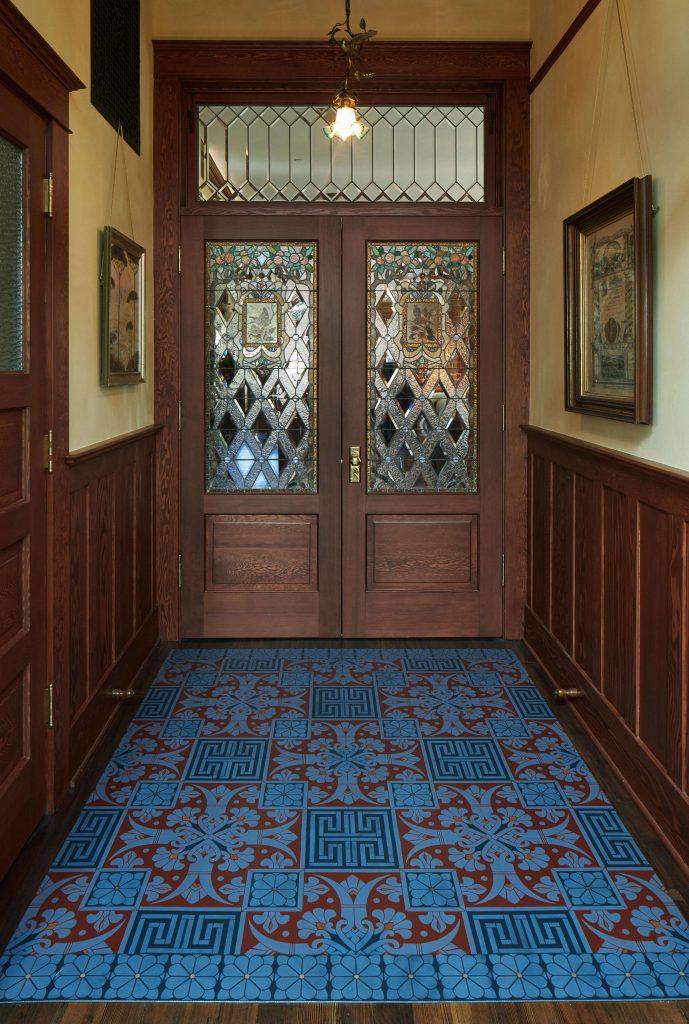 Ariel Grace Design custom floorcloth firehouse portland oregon